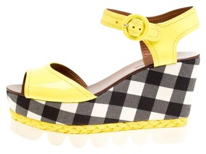 Dolce&Gabbana Patent Leather Yellow Sandals