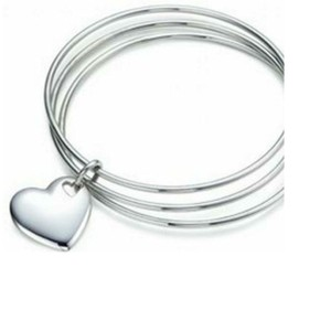 Tiffany & Co. Retired Heart Triple bangle bracelet