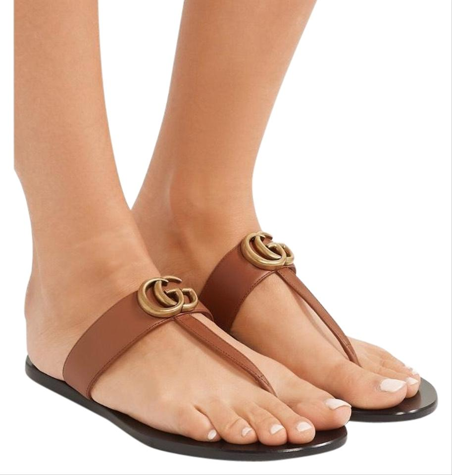 6026bd10dd5 Gucci Marmont Leather Sandals. Size  US 6 Regular ...
