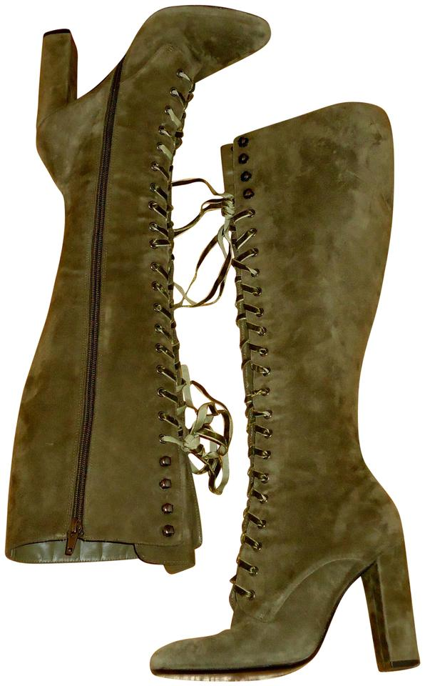 7fe2aaf6046 Steve Madden Olive Green Suede Sz.6 Boots Booties Size US 6 Regular ...