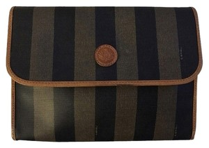 Fendi Pequin Stripe Clutch