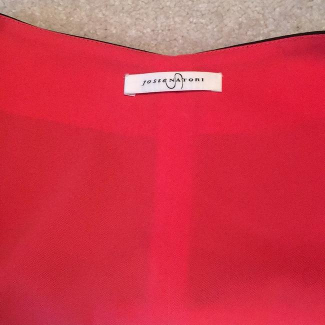 Josie Natori blue and cream with Coral accents inside Jacket Image 1