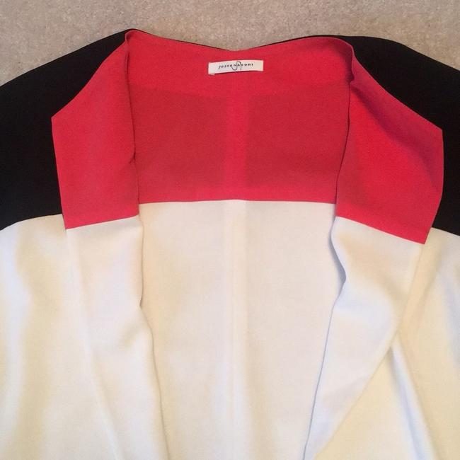 Josie Natori blue and cream with Coral accents inside Jacket Image 2