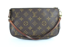 Louis Vuitton Pochette Pouch Clutch Poche Accessories Wristlet in Brown