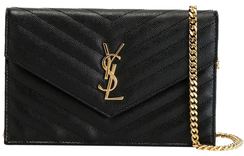 Saint Laurent Chain Wallet Clutch Ysl Monogram Quilted