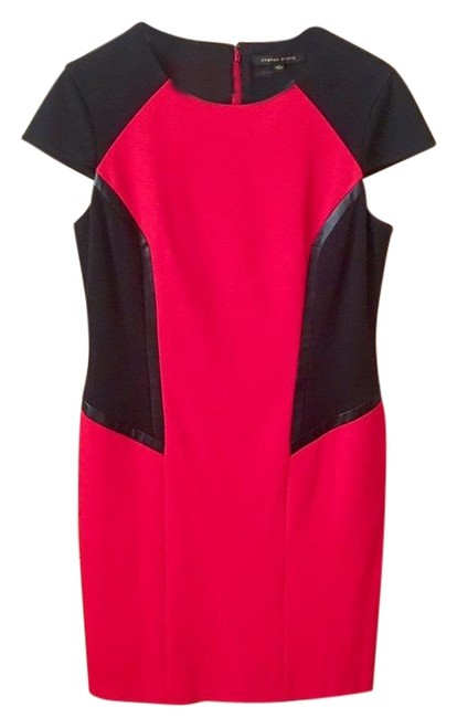 Item - Black/Red 51323 Mid-length Short Casual Dress Size 12 (L)