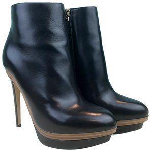 Fendi Leather Platform Black Boots