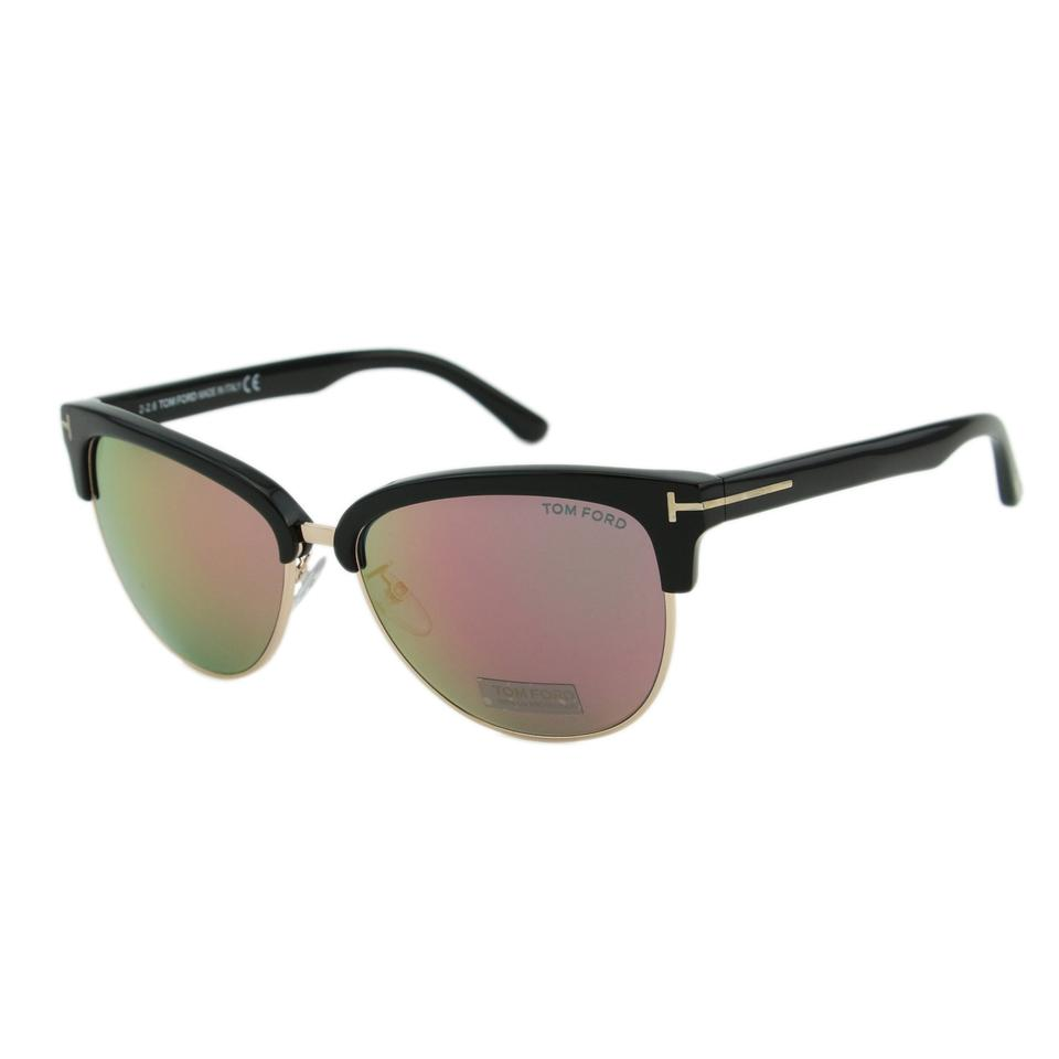 bf9a3eac16114 Tom Ford Black   Gold New Tf Fany Ft0368 01z Women Cat-eye Mirrored 59mm  Sunglasses