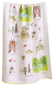 Anthropologie Multicolor Mapped-out New York Dishtowel Other