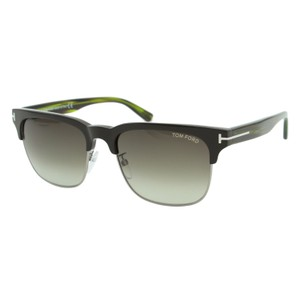 c612310b13 Tom Ford Gray New Tf River Ft0367 60b Beige Horn Dual Rimmed Square ...