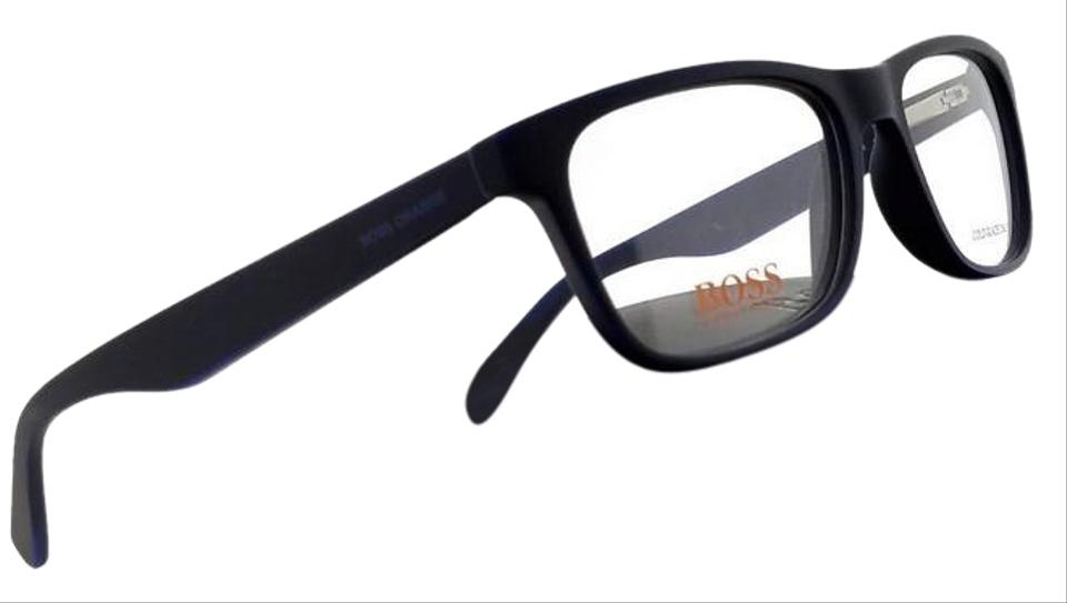 9f5dfcf33a Hugo Boss Bo0217-9fx-52 Square Men s Blue Frame Clear Lens Genuine  Eyeglasses