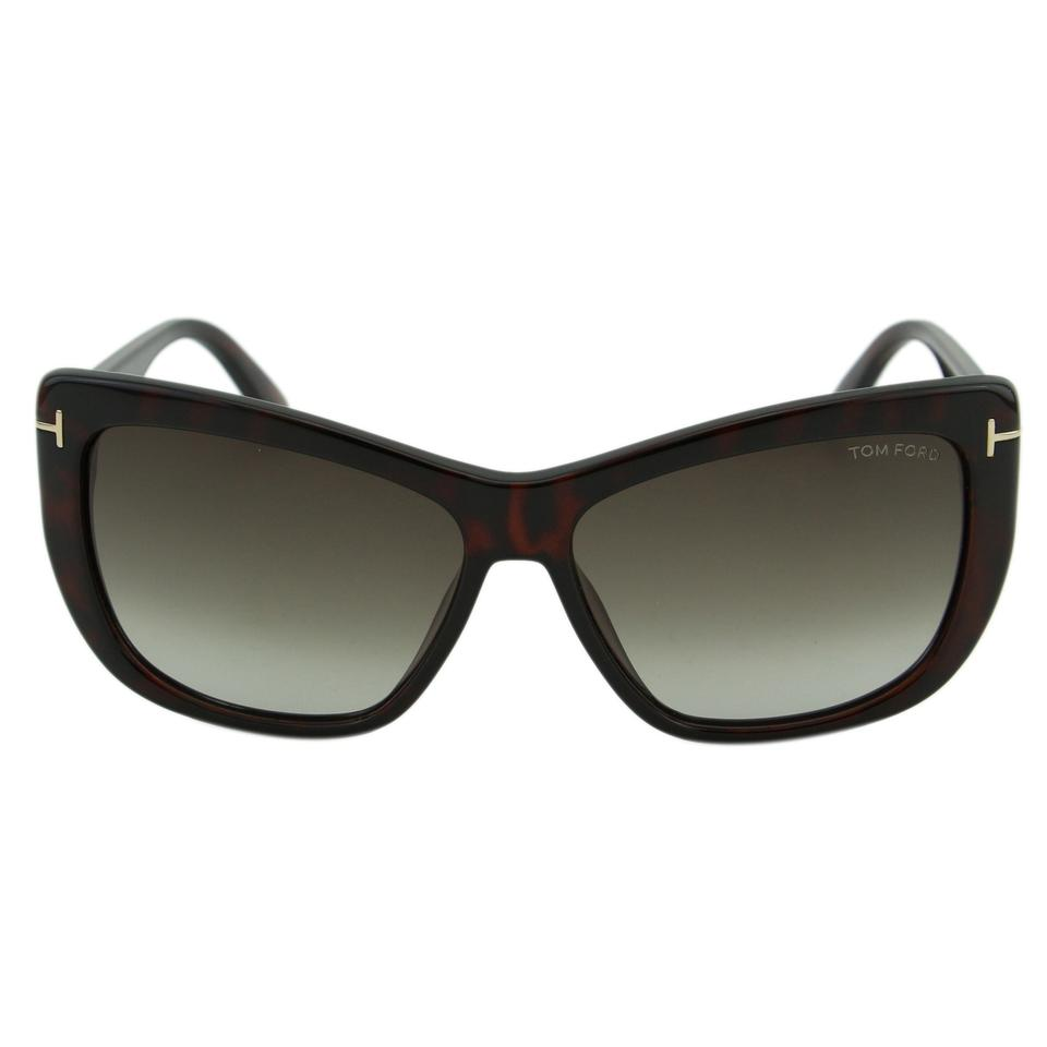7a3695b7321 Tom Ford New TF Lindsay FT0434 52K Women Metal T Logo Cat-Eye Sunglasses  Image ...