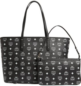 MCM Anya New Large Tote in Black