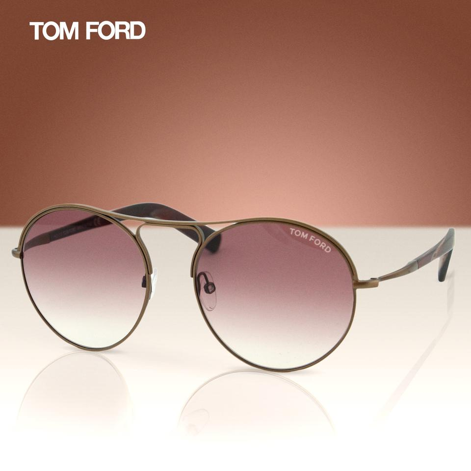f51948e31d Tom Ford New TF Jessie FT0449 49T Women Rounded Aviator Sunglasses 54mm  Image 8. 123456789