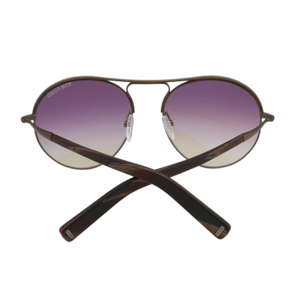 7fc7877177 Tom Ford New TF Jessie FT0449 49T Women Rounded Aviator Sunglasses 54mm  Image 8. 123456789