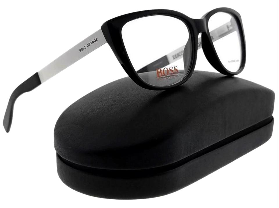 856a50ee6f Hugo Boss BO0219-FIX-53 Cat Eye Womens White Frame Clear Lens Genuine  Eyeglasses ...