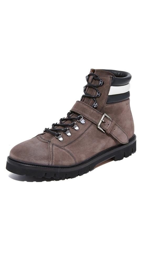45101d393ad7 Bally Gray Champions Dark Suede Web Logo Lace Up Sneaker Boots 11 D 44 Shoes  Image ...