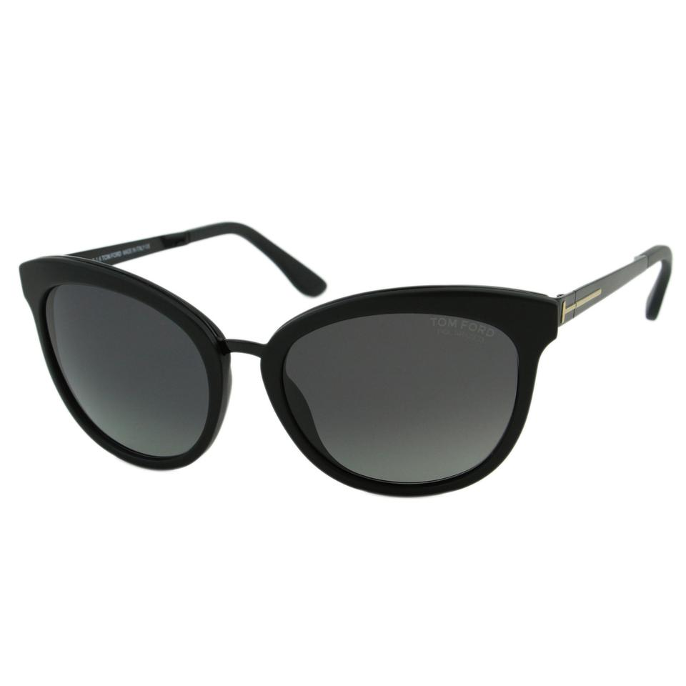 845a7ae3f46 Tom Ford Matte Black New Tf Emma Ft0461 02d Women Rounded Cat-eye Polarized  Sunglasses