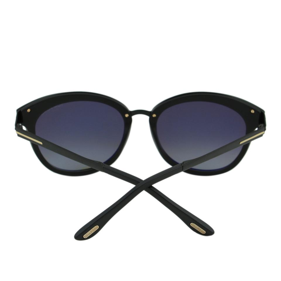 0fb968f7aa Tom Ford Matte Black New Tf Emma Ft0461 02d Women Rounded Cat-eye Polarized  Sunglasses