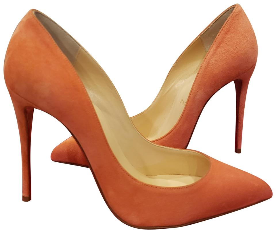 05cd18eef0a7 Christian Louboutin Charlotte (Peachy Pink) Pigalle Follies 100 Suede Heels  Pumps