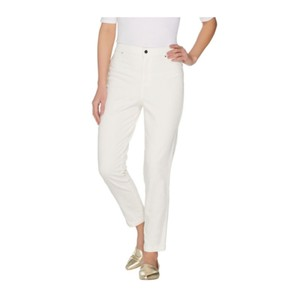 Joan Rivers Straight Pants White