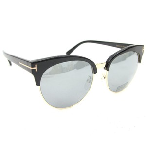 Tom Ford NEW Tom Ford TF481-D Black Silver Mirrored Oversized Sunglasses
