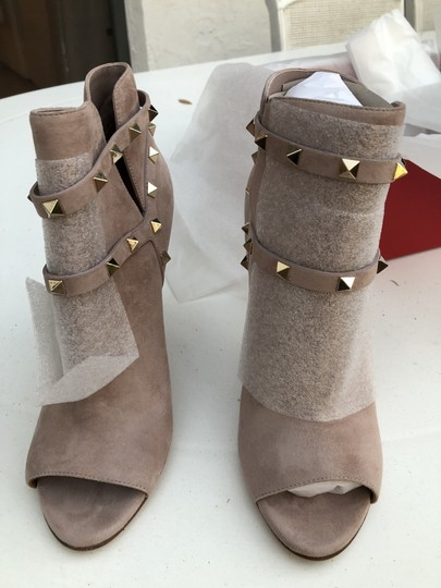 Valentino Studs Heel Open Toe Poudre Boots Image 1