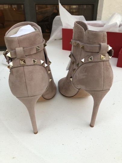 Valentino Studs Heel Open Toe Poudre Boots Image 4