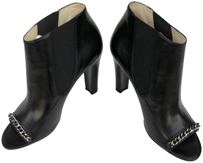 Item - Black Lambskin Chain Ankle Boots/Booties Size EU 37.5 (Approx. US 7.5) Regular (M, B)