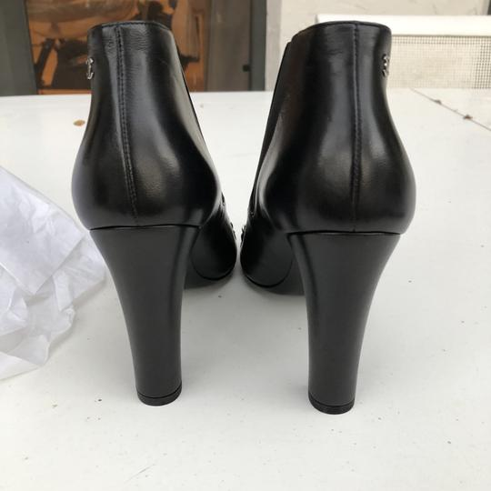 Chanel Chain Leather Black Boots Image 2
