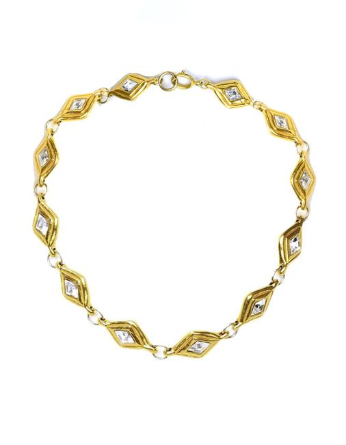 Chanel Gold Vintage '70's & Crystal Choker Necklace Chanel Gold Vintage '70's & Crystal Choker Necklace Image 1