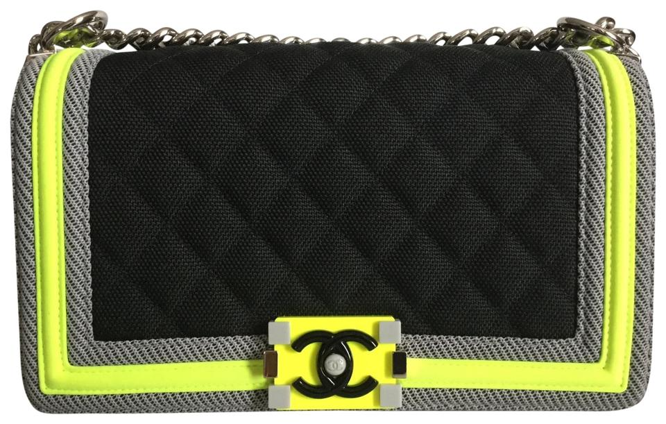 Chanel Boy Fluo Rare Limited Edition Medium Sport + Cross Body Black ... 3e0f08e971c0c