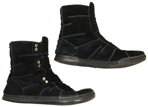 Diesel Carmen Leather Suede Ankle Insulated Black Boots