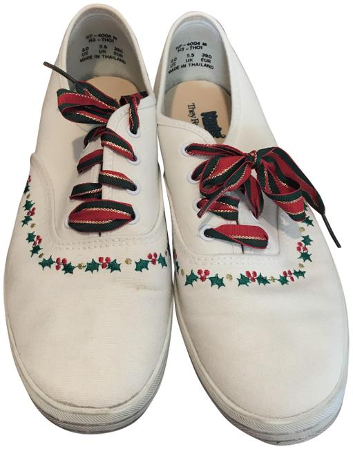 Item - White/Holly Red/Green Laces Oxford Sneakers Size US 8 Regular (M, B)