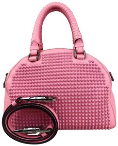 Christian Louboutin Panetton Leather Satchel in Pink