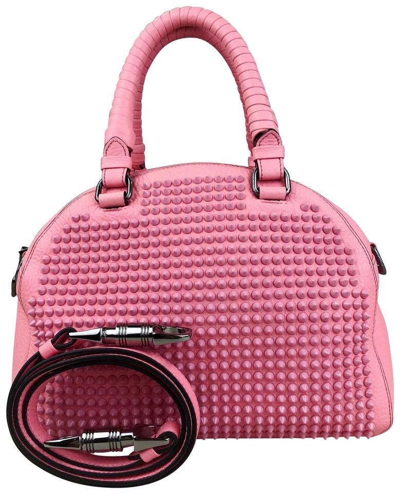 44180667313 Christian Louboutin Shoulder Bag Panettone Spiked Pink Leather Satchel 62%  off retail