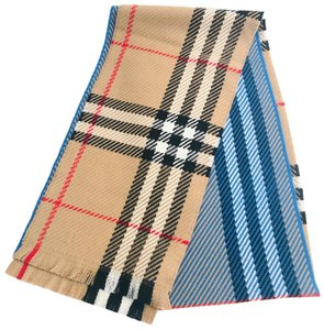 """Burberry Color Block Giant Check wool scarf 90"""" Long"""