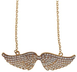 CC SKYE Gold Pave Angel Wings