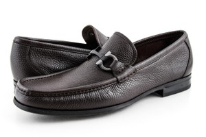 Salvatore Ferragamo Brown Men's Grandioso Loafers Shoes