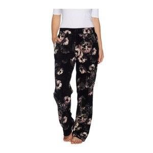 Cuddl Duds Relaxed Pants Black Floral