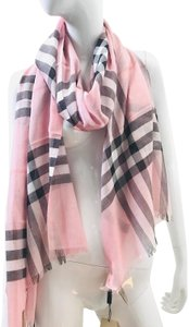Burberry Lightweight Gauze Check Wool and Silk Scarf