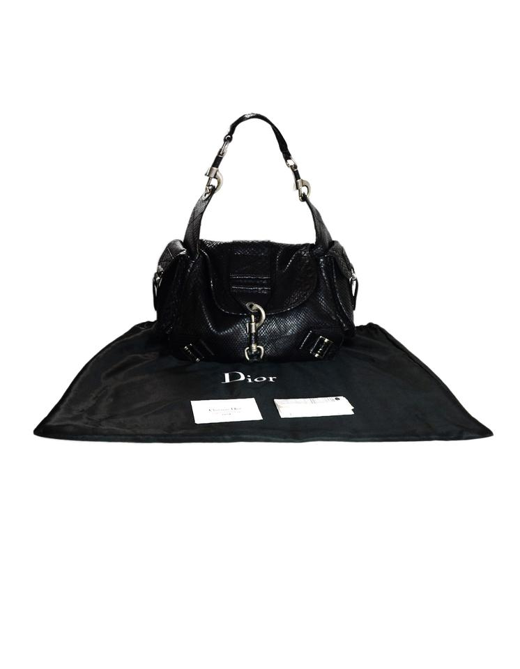 Dior Christian Limited Edition with Side Pockets Black Python Skin ... cccc56cd8761f