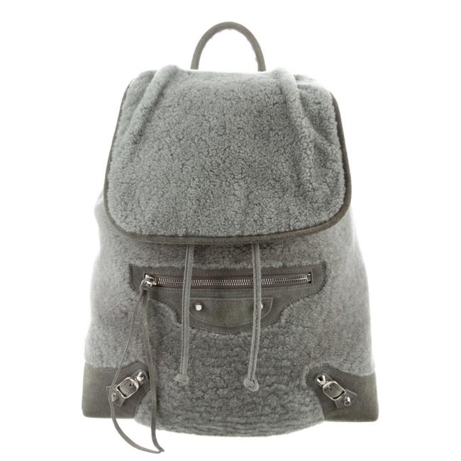 Item - Classic Traveller S Shearling Silver Grey Backpack