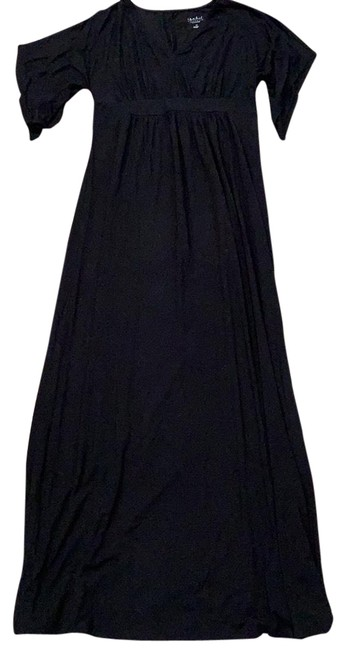 Preload https://img-static.tradesy.com/item/24686826/ingrid-and-isabel-black-maxi-maternity-dress-size-0-xs-0-1-650-650.jpg