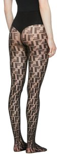 Fendi Fendi Black 'Forever Fendi' Tights L sz