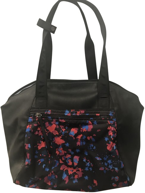 Item - Tote with Yoga Mat Attachment Multicolor Polyurethane and Polyester Weekend/Travel Bag
