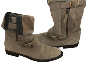 Burberry gray/ taupe Boots