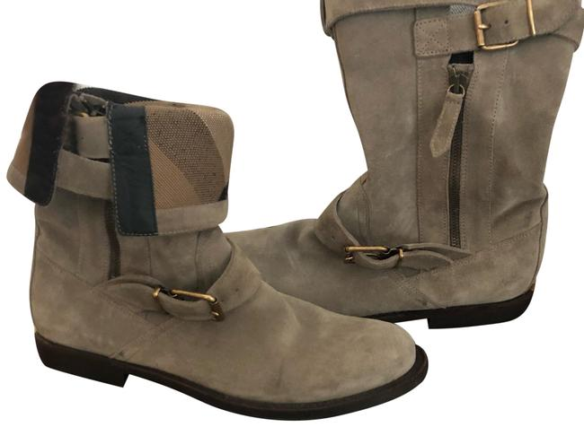 Item - Gray/ Taupe Grantville Suede Flat Buckle Riding Ankle Boots/Booties Size US 7 Regular (M, B)