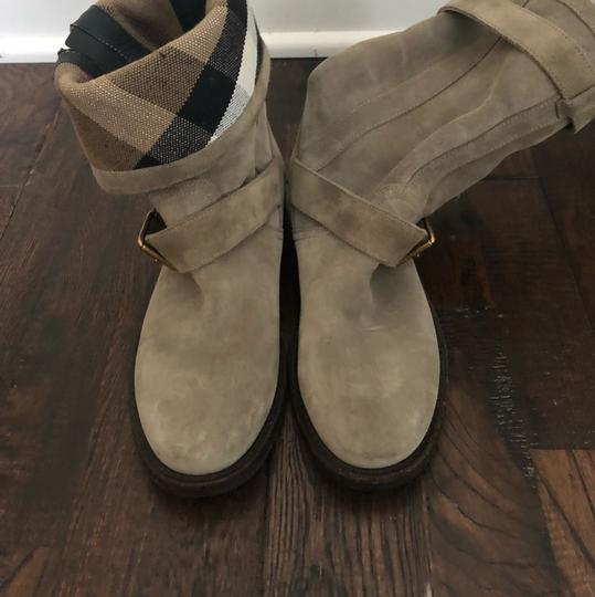 Burberry gray/ taupe Boots Image 1