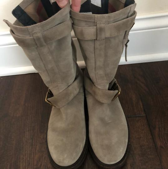 Burberry gray/ taupe Boots Image 2